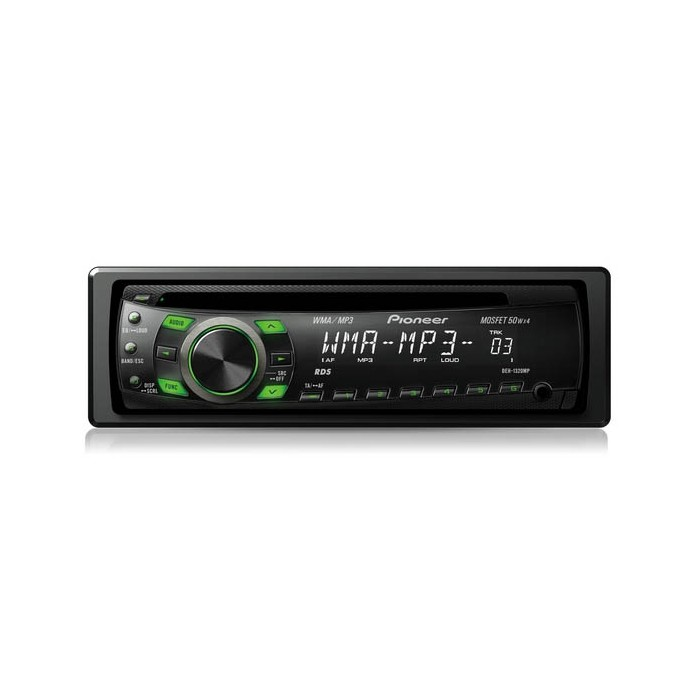 deh 1320mp cd mp3 cd radio tuner front aux input green illumination. Black Bedroom Furniture Sets. Home Design Ideas