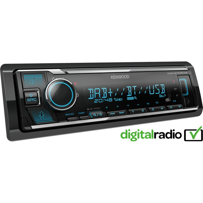 Alexa Kenwood Car Audio KMM-BT506DAB