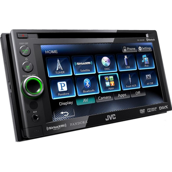 kw av61bt double din car stereo with built in bluetooth 6 1. Black Bedroom Furniture Sets. Home Design Ideas