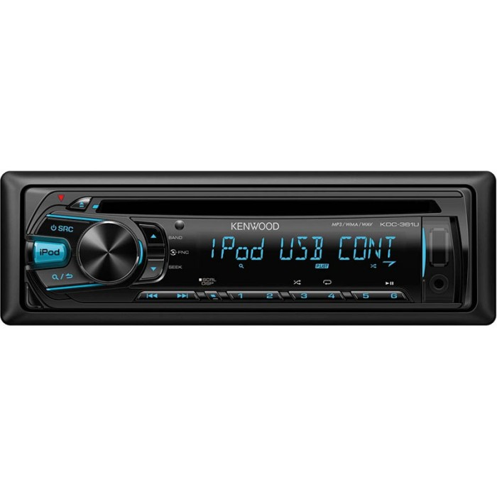 iPhone Compatible Kenwood Car Audio KDC-364U  1