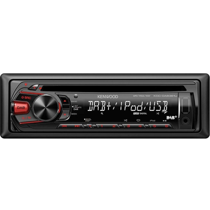 iPhone Compatible Kenwood Car Audio KDC-DAB361U