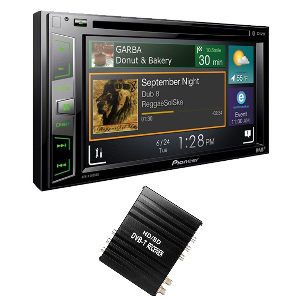 Double Din Screen Pioneer AVH-X490DAB + FV006