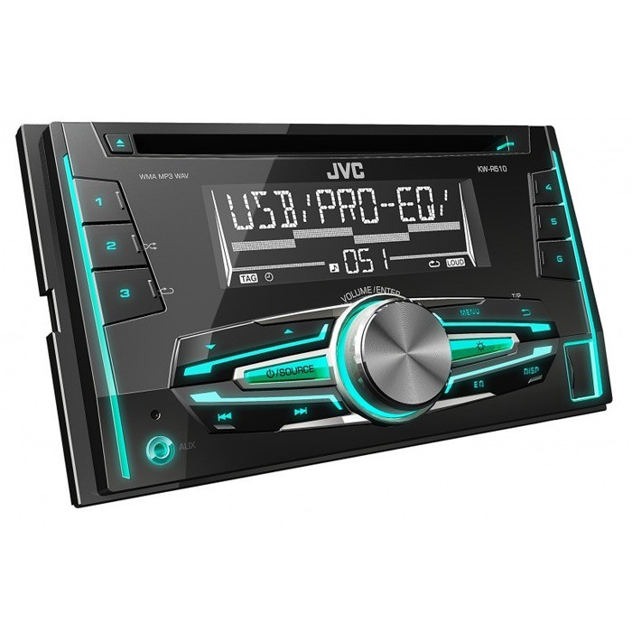 JVC KW-R510 Double Din car stereo Front USB/AUX input