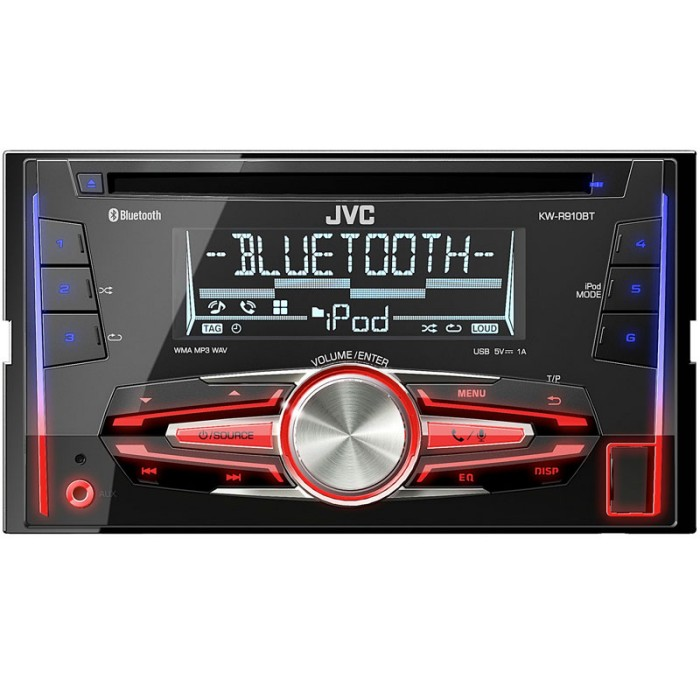 kw r910bt double din bluetooth car stereousb aux input h. Black Bedroom Furniture Sets. Home Design Ideas