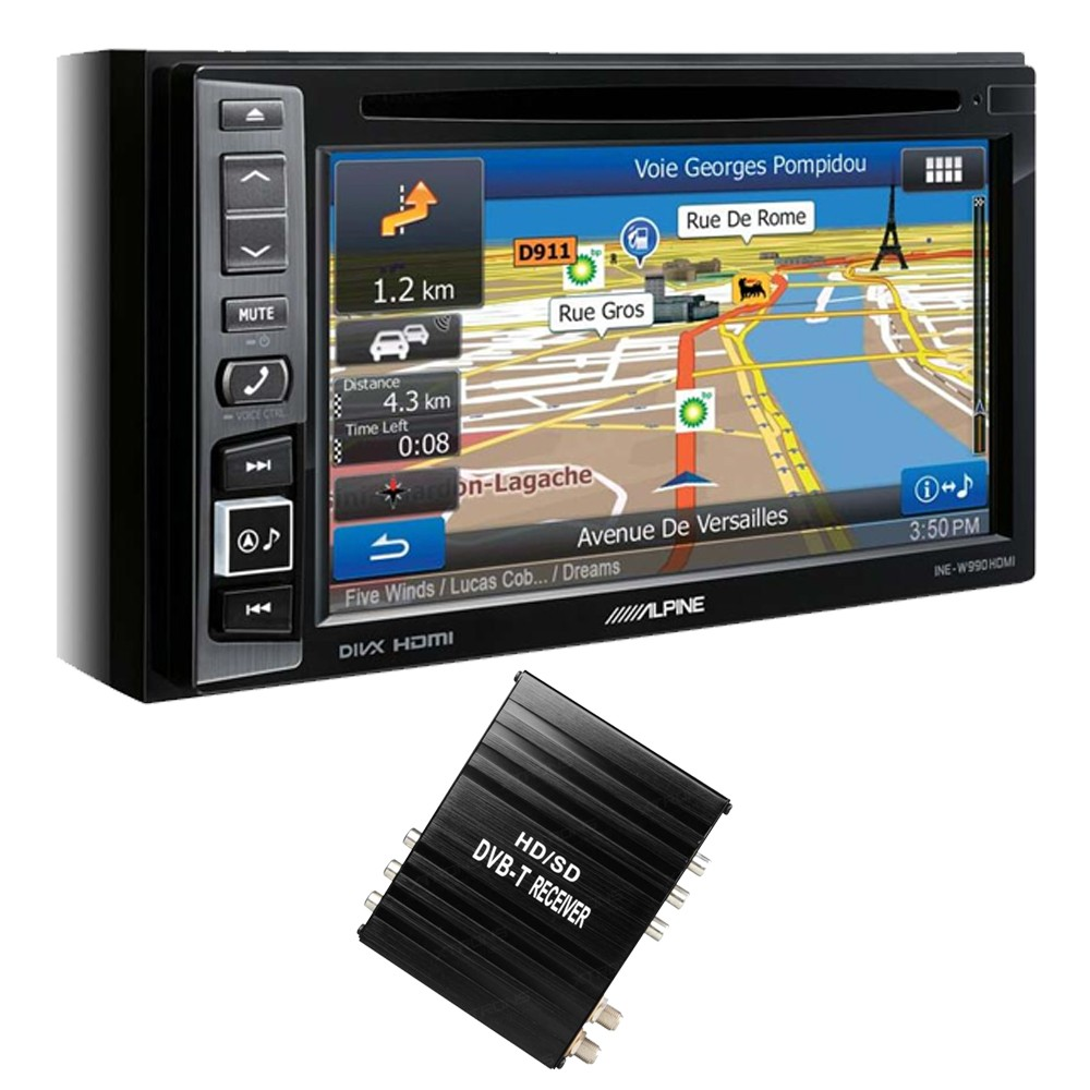 Double Din Screen Alpine Car Audio Systems INE-W990HDMI + FV006