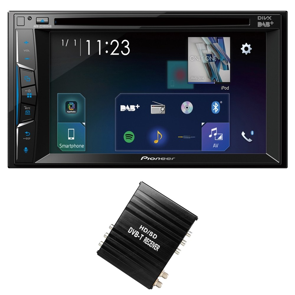 Double Din Screen Pioneer AVH-A3100DAB + FV006