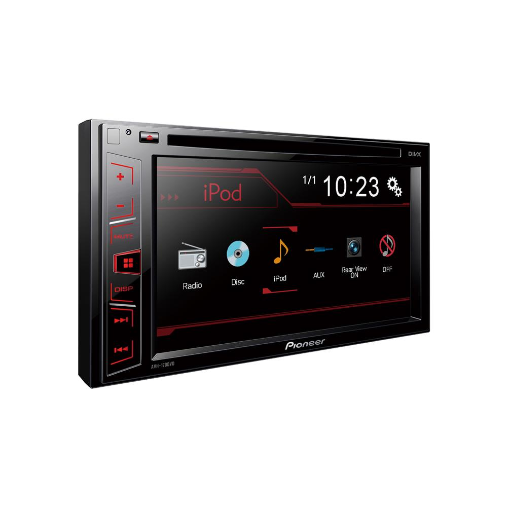pioneer avh 170dvd double din 2015 6 2 touch screen usb aux input. Black Bedroom Furniture Sets. Home Design Ideas