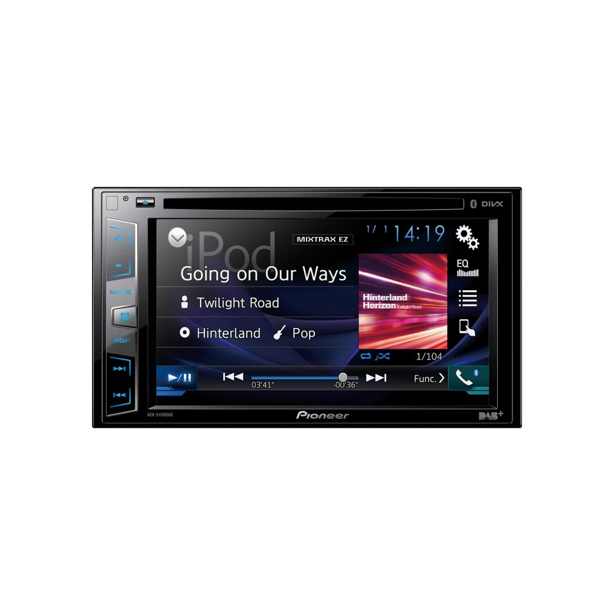 Double Din Screen Pioneer AVH-X490DAB + FV006 1