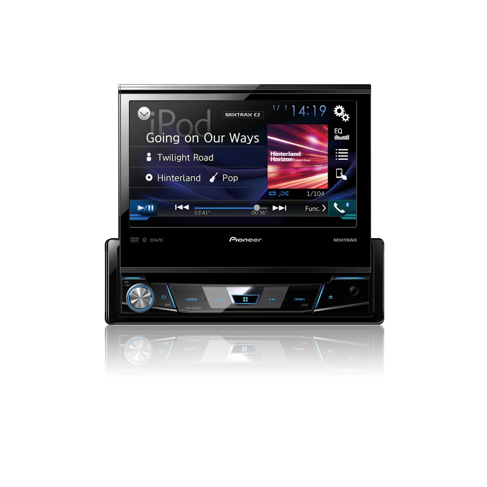avh x7800bt 1 din 7 flip out multimedia player with bluetooth