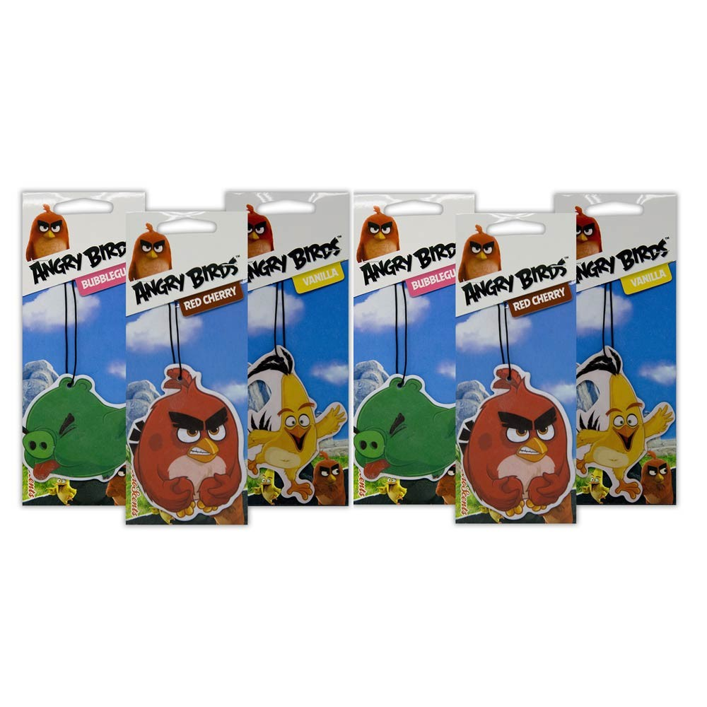Car Care Retroscent Car Air Fresheners Angry Bird 6 pack bundle
