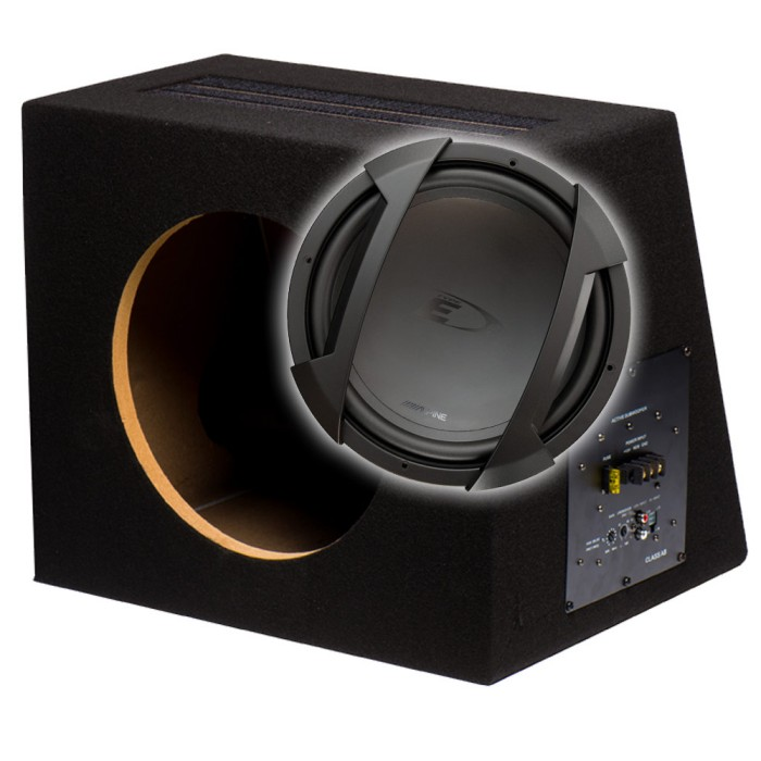 Sub and Amp Packages In Phase Car Audio BX12S SWE-1244EJA1201D 2