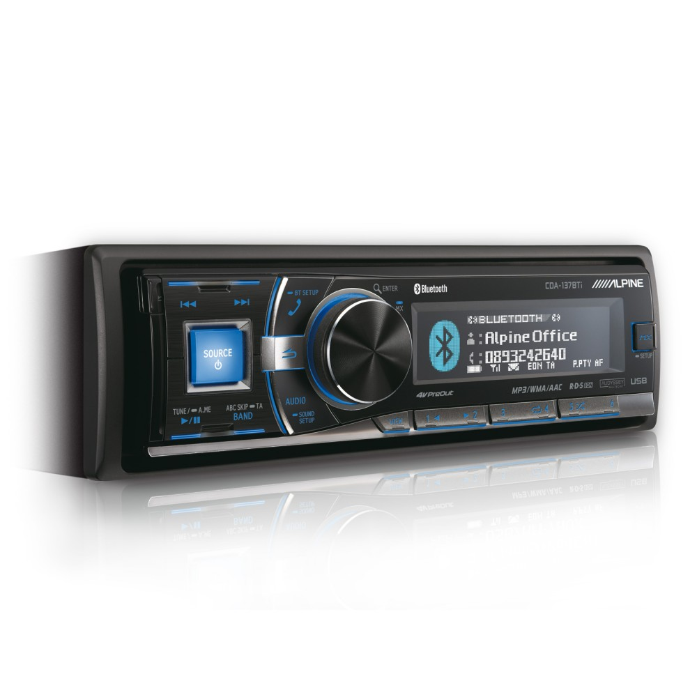 alpine cda 137bti cd mp3 car stereo with built in bluetooth. Black Bedroom Furniture Sets. Home Design Ideas