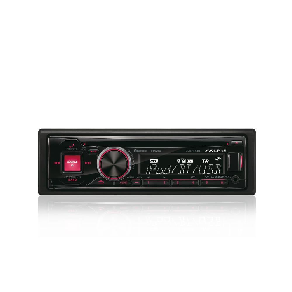alpine bluetooth car stereo cde 173bt with bluetooth. Black Bedroom Furniture Sets. Home Design Ideas