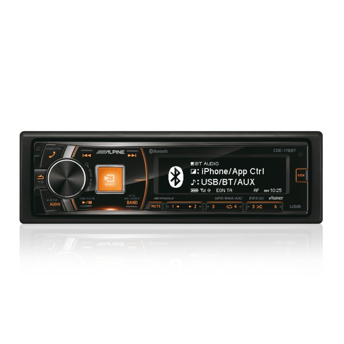 Made for iPod/iPhone Alpine Car Audio Systems CDE-178BT 3
