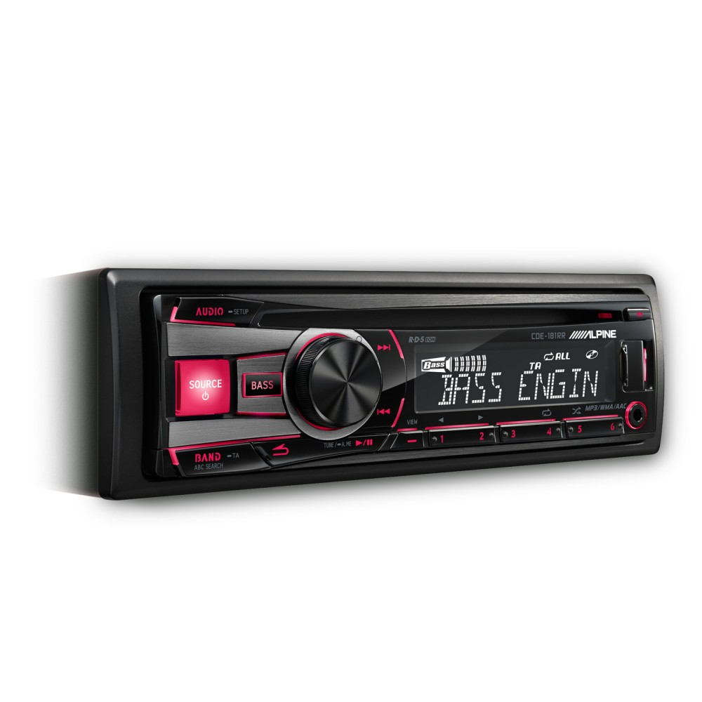cde 181rr cd mp3 car stereo system front usb aux input alpin. Black Bedroom Furniture Sets. Home Design Ideas