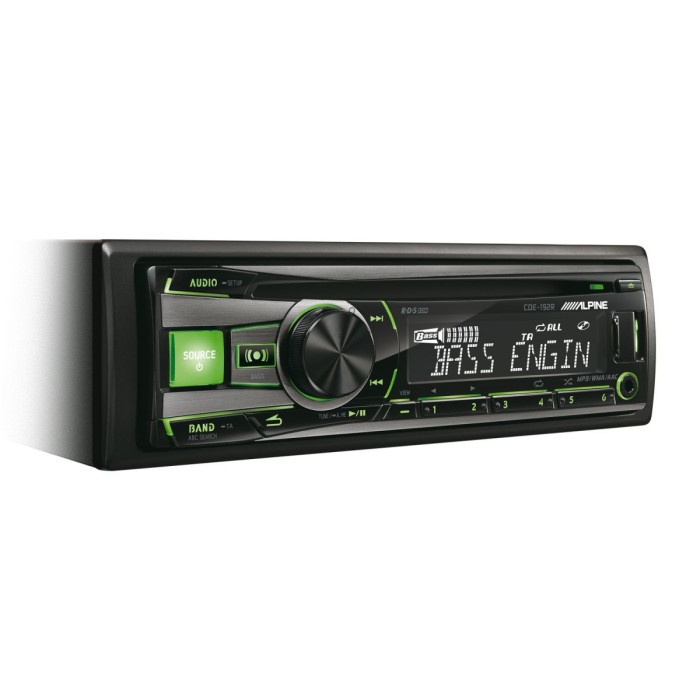 CD/MP3 Player Alpine Car Audio Systems CDE-192R 1