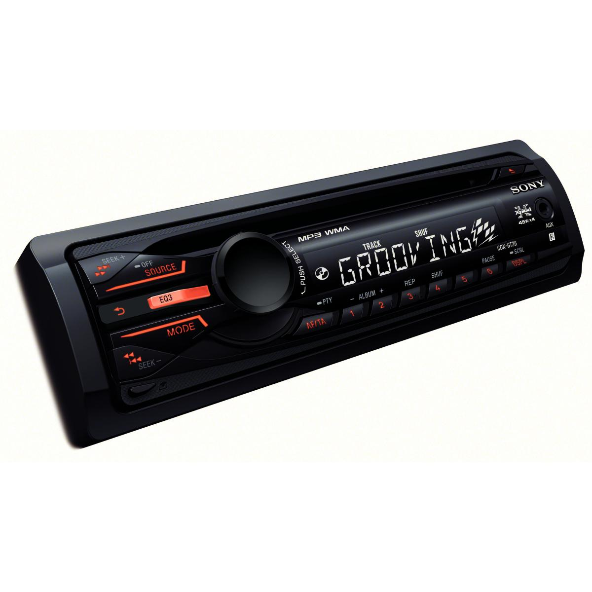 SONY CDX-GT26 CD/MP3 Car CD Player With Front AUX Input