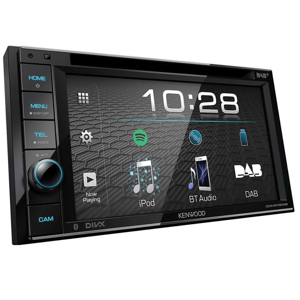 Double Din Screen Kenwood Car Audio DDX4019DAB