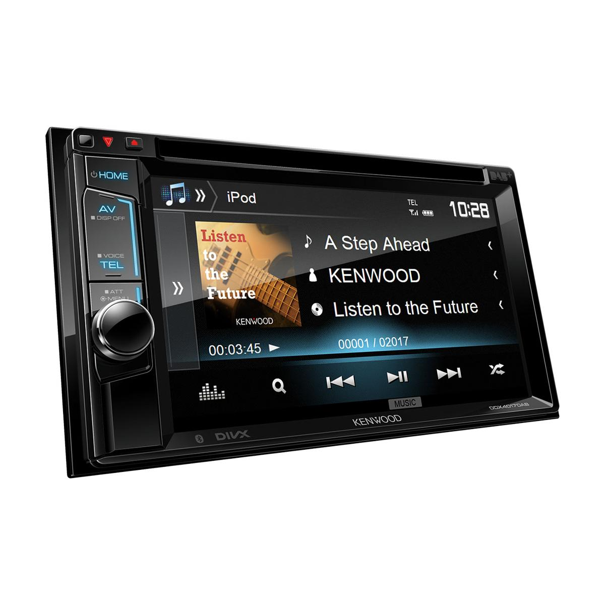 Double Din Screen Kenwood Car Audio DDX-4017DAB
