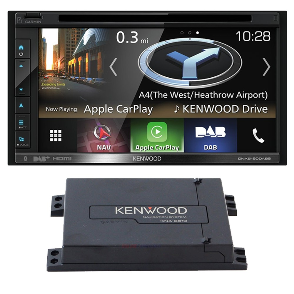 Double Din Car Stereos Kenwood Car Audio DNX5180DABS + GVN560