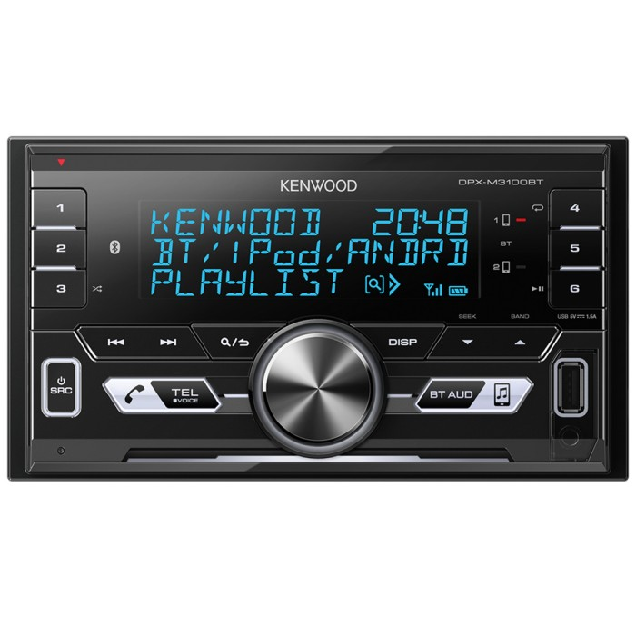 Double Din Car Stereos Kenwood Car Audio DPX-M3100BT 1
