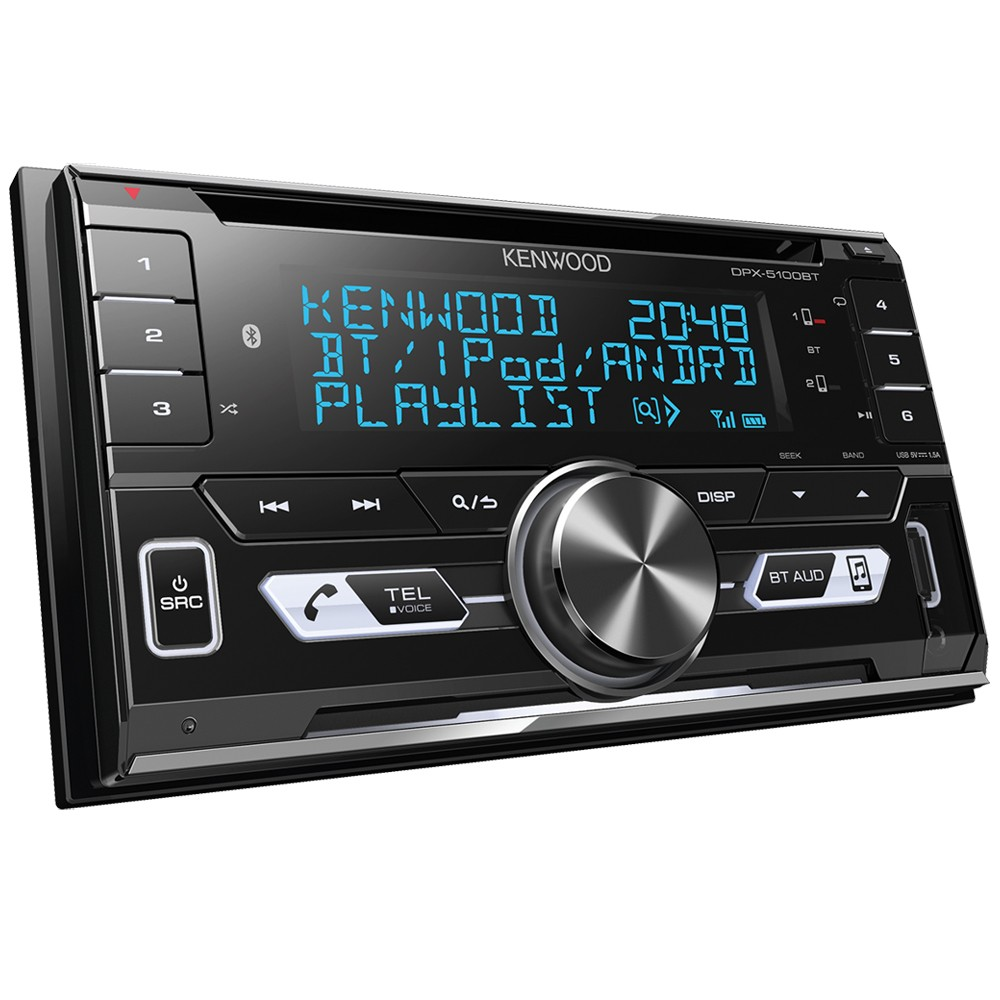 Kenwood DPX5000BT Double Din Car Stereo With Bluetooth