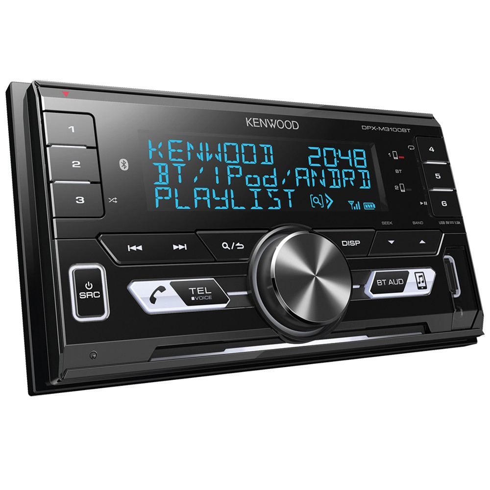 Double Din Car Stereos Kenwood Car Audio DPX-M3100BT