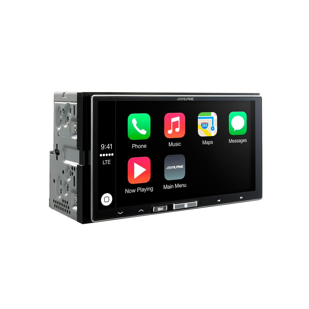 alpine double din apple car play multimedia system. Black Bedroom Furniture Sets. Home Design Ideas