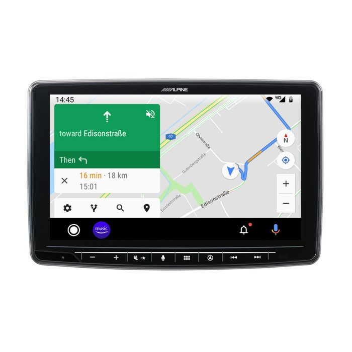 In Car Sat Nav Alpine Car Audio Systems INE-F904D 2