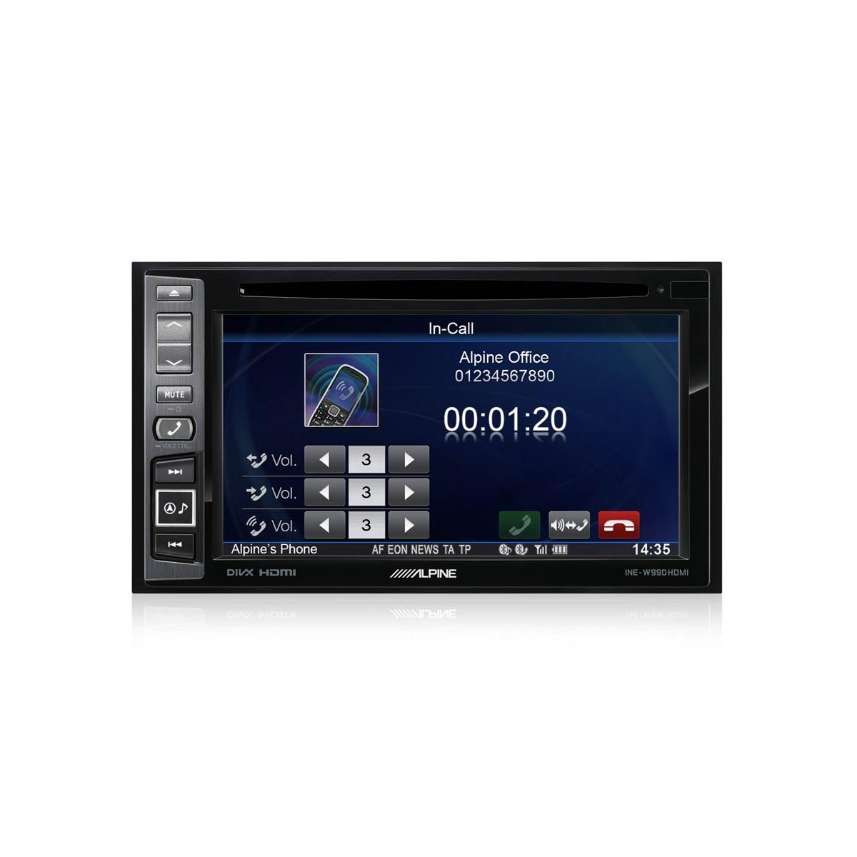 Double Din Screen Alpine Car Audio Systems INE-W990HDMI + FV006 3