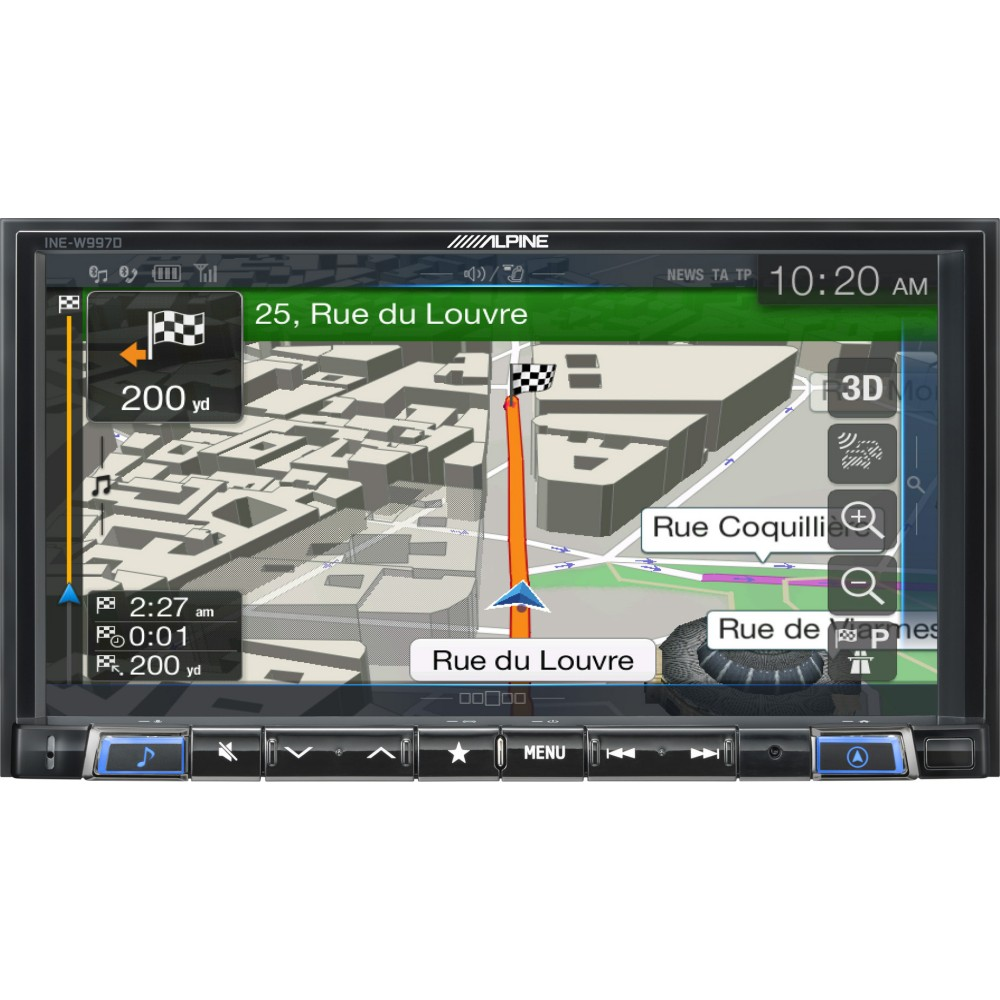 Fixed sat nav alpine ine w997d