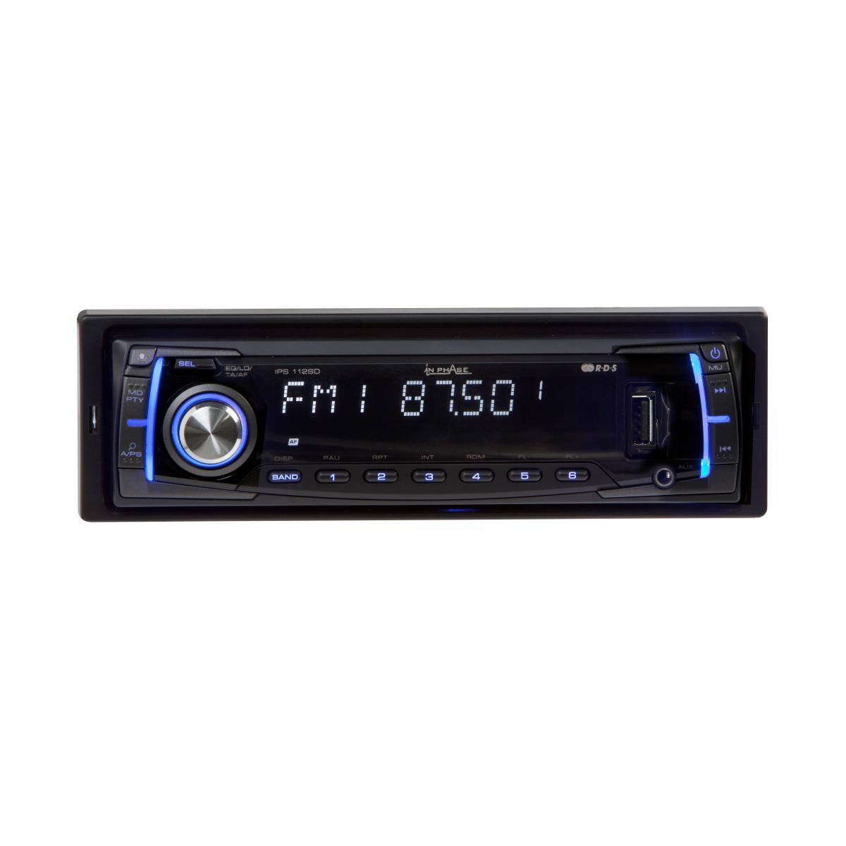 Mechless Car Stereo In Phase Car Audio IPS112SD