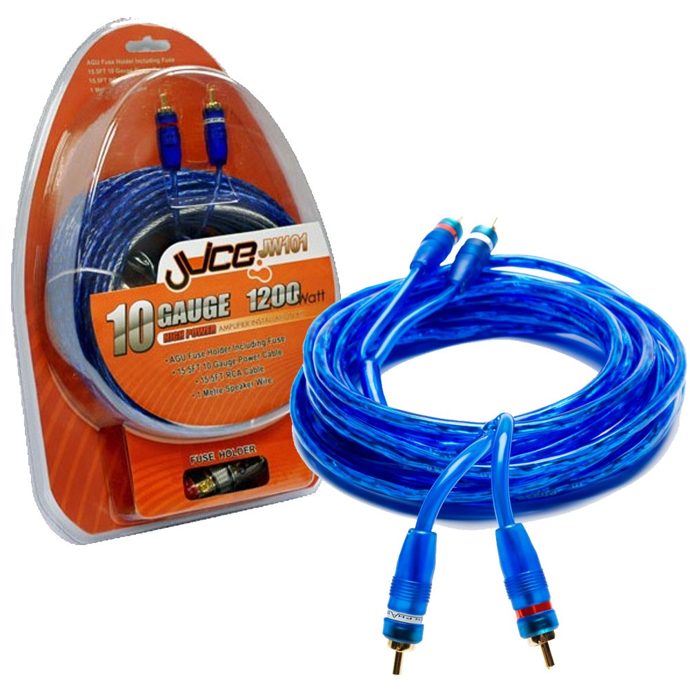 Amplifier and Wiring Kits Juice Car Audio JW101 + IP5R