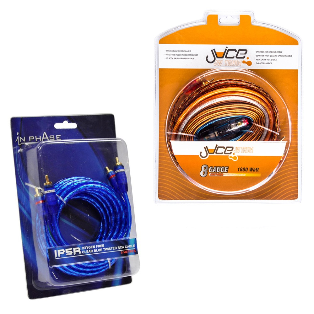 Juice Car Audio JWTRU10 10G ATC Fused Amplifier Wiring Kit + RCAs on