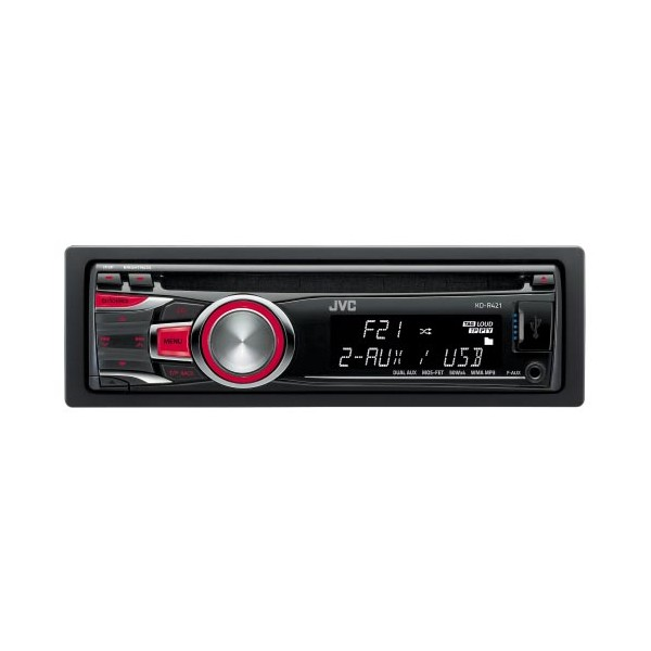 KD R421 jvc kd r421 front usb port, front aux input cd mp3 radio tuner jvc kd-r421 wiring diagram at gsmx.co