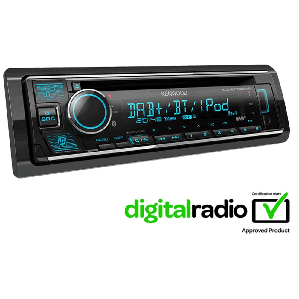 Bluetooth Compatible Kenwood Car Audio KDC-BT730DAB