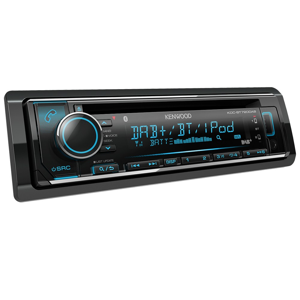 Kenwood Car Audio KDC-BT720DAB CD Receiver with Built-in Bluetooth & DAB+  Radio
