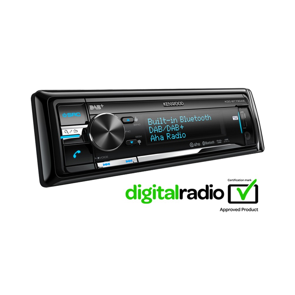 iPhone Compatible Kenwood Car Audio KDC-BT73DAB