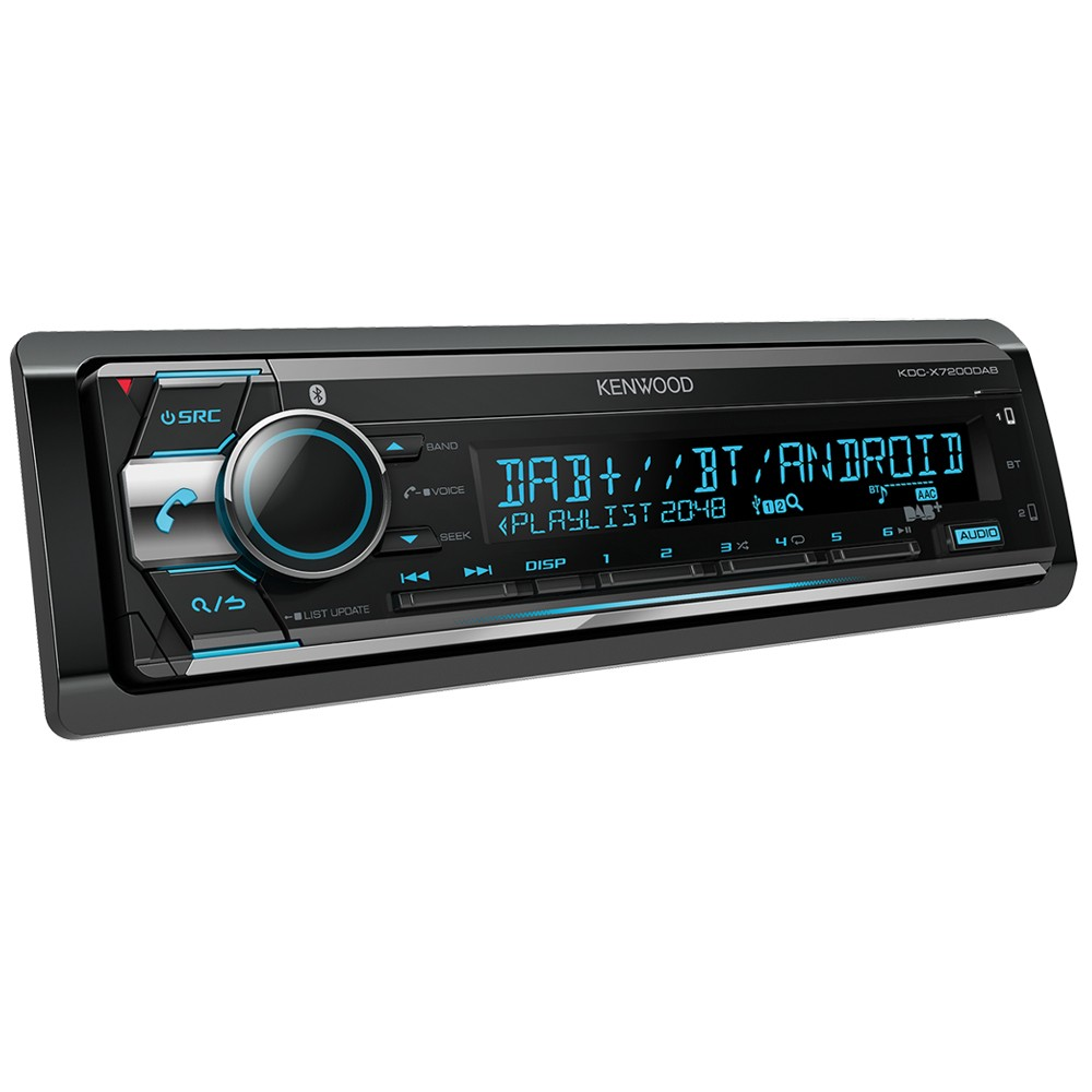 Kenwood Car Audio KDC-X7200DAB CD Receiver with Built-in Bluetooth & DAB+  Radio