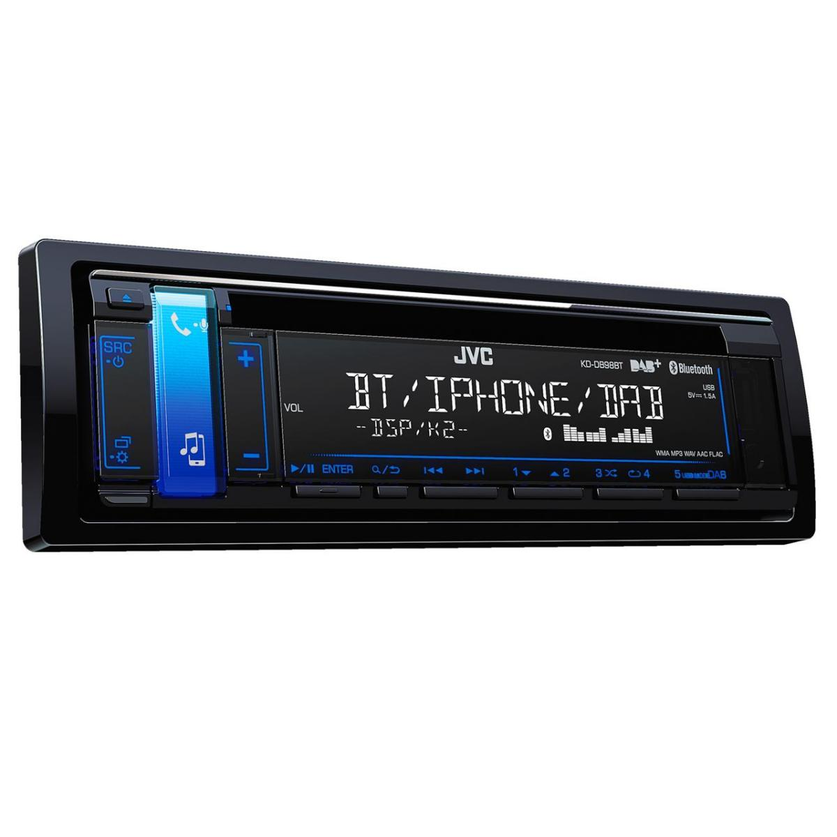 KD-DB98BT CD/MP3 Car Stereo With Front USB/AUX Input And Bui