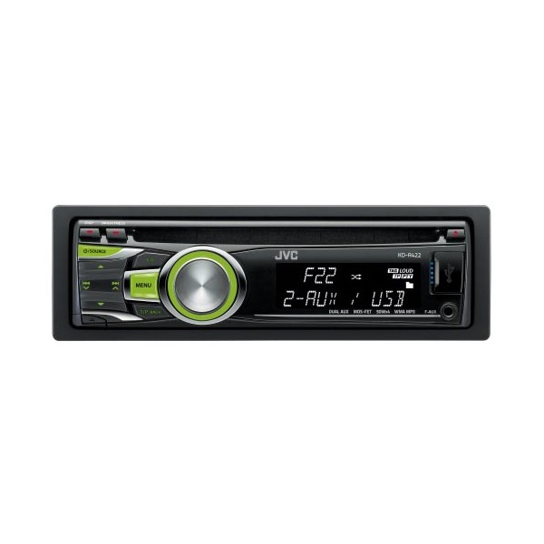 KDR422 jvc kd r422 front usb port, front aux input cd mp3 radio tuner jvc kd-r421 wiring diagram at gsmx.co