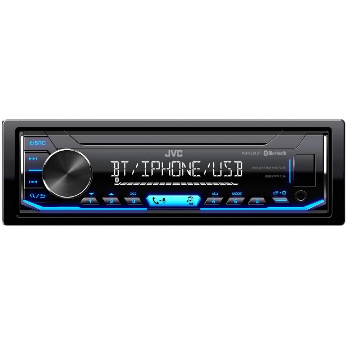 Mechless Car Stereo JVC KD-X351BT 1