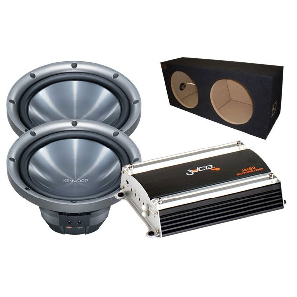 Sub and Amp Packages Kenwood KFC-W2511 x  2 + BX210 + JA590