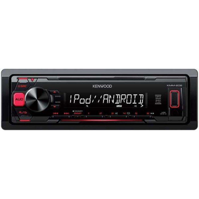 Kenwood KMM202 Mechless Car Stereo With USB,iPod & Flac
