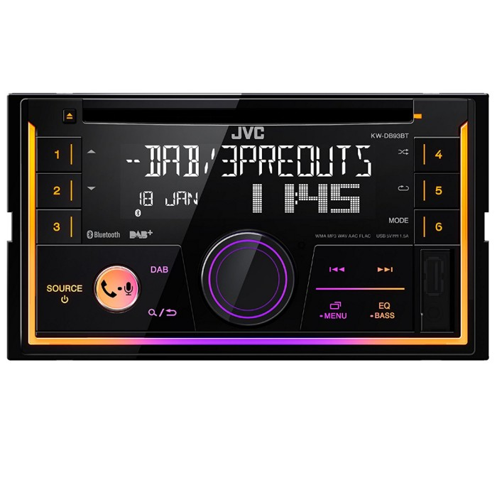 Bluetooth Compatible JVC KW-DB93BT 3