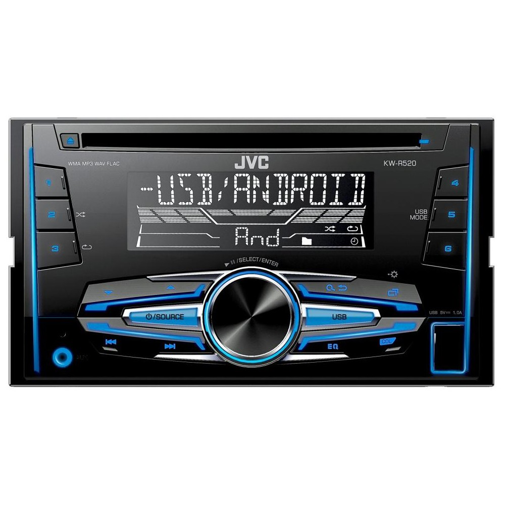 Double Din Car Stereos JVC KW-R520