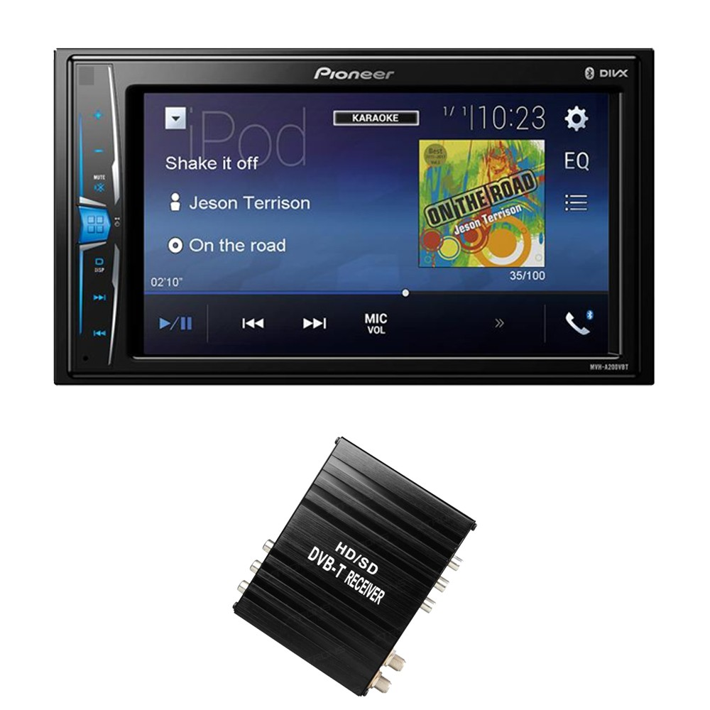 Double din screen Pioneer MVH-A200VBT + FV006