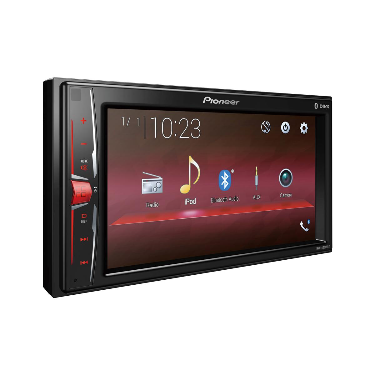 Double din screen Pioneer MVH-A200VBT + FV006 2