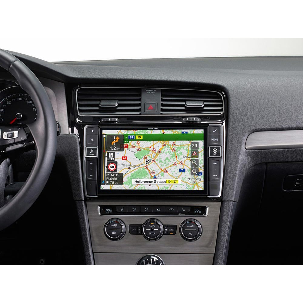 alpine 9 touch screen navigation system for vw golf 7. Black Bedroom Furniture Sets. Home Design Ideas