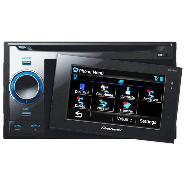 pioneer avic f310bt double din sat nav with removable. Black Bedroom Furniture Sets. Home Design Ideas
